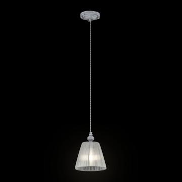 Подвесной светильник Maytoni Classic Elegant Monsoon ARM154-PL-01-S, 1xE14x40W, серый, металл, текстиль