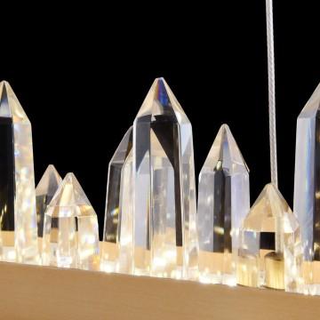 Подвесной светодиодный светильник Maytoni Gletscher H186-PL-01-40W-BS, LED 40W 4000K 2253lm CRI80, латунь, прозрачный, металл, стекло - миниатюра 6