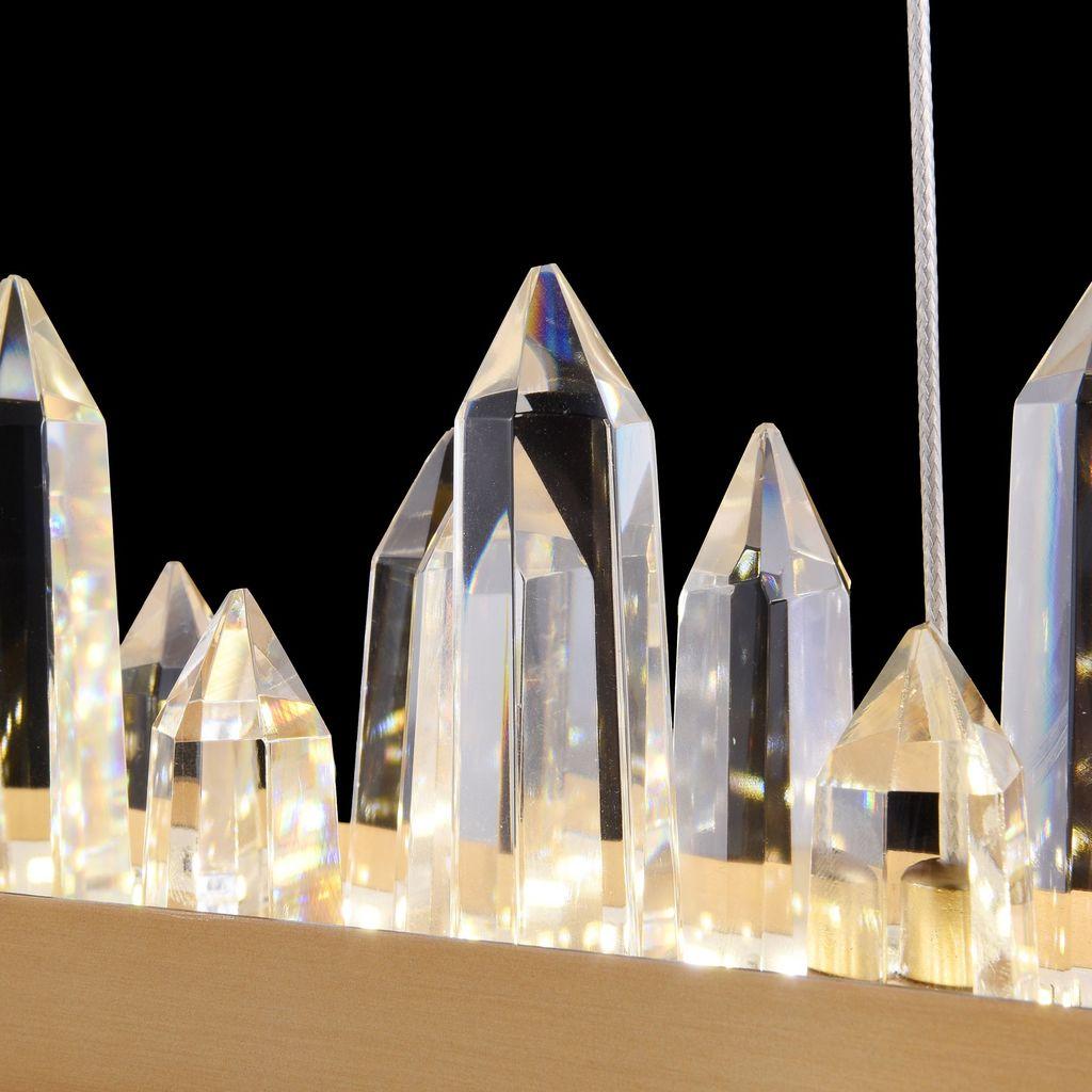 Подвесной светодиодный светильник Maytoni Gletscher H186-PL-01-40W-BS, LED 40W 4000K 2253lm CRI80, латунь, прозрачный, металл, стекло - фото 6