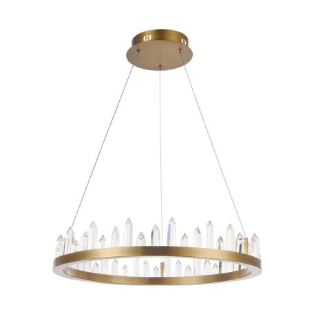 Подвесной светодиодный светильник Maytoni Gletscher H186-PL-01-46W-BS, LED 46W, 4000K (дневной), латунь, прозрачный, металл, стекло