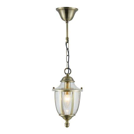 Подвесной светильник Maytoni Classic House Zeil H356-PL-01-BZ, 1xE14x60W, бронза, прозрачный, металл, стекло