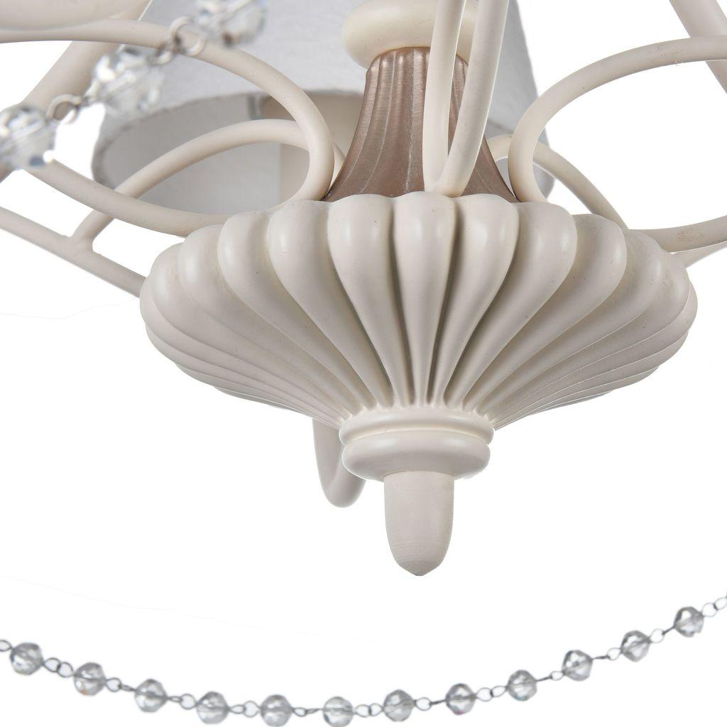 Потолочно-подвесная люстра Maytoni Sonate ARM424-PL-05-W, 5xE14x40W, бежевый, матовое золото, белый, прозрачный, металл, текстиль, стекло - фото 7