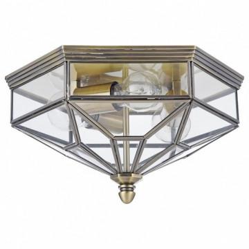 Потолочный светильник Maytoni Zeil H356-CL-03-BZ, 3xE27x60W, бронза, прозрачный, металл, стекло