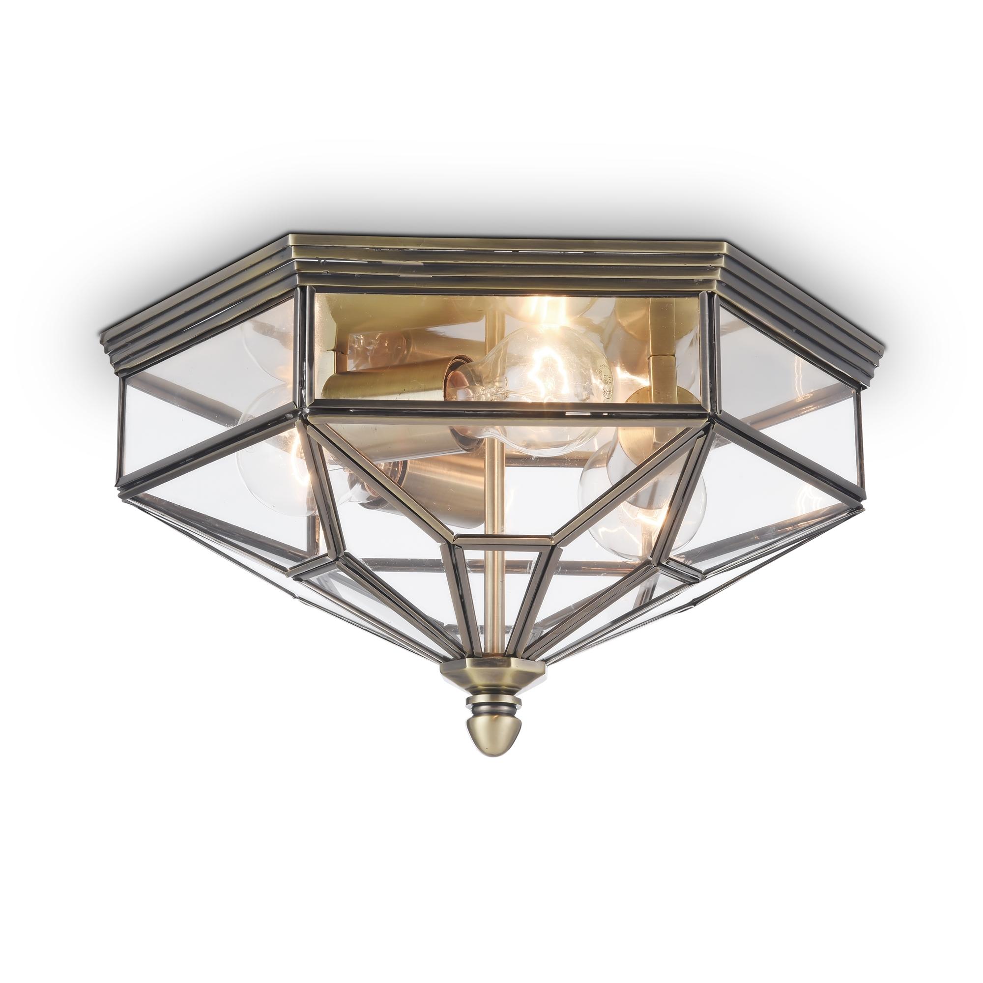 Потолочный светильник Maytoni Classic House Zeil H356-CL-03-BZ, 3xE27x60W, бронза, прозрачный, металл, стекло - фото 1