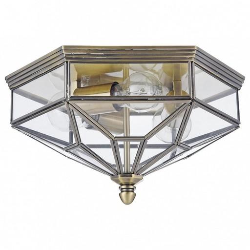 Потолочный светильник Maytoni Zeil H356-CL-03-BZ, 3xE27x60W, бронза, прозрачный, металл, стекло - фото 1