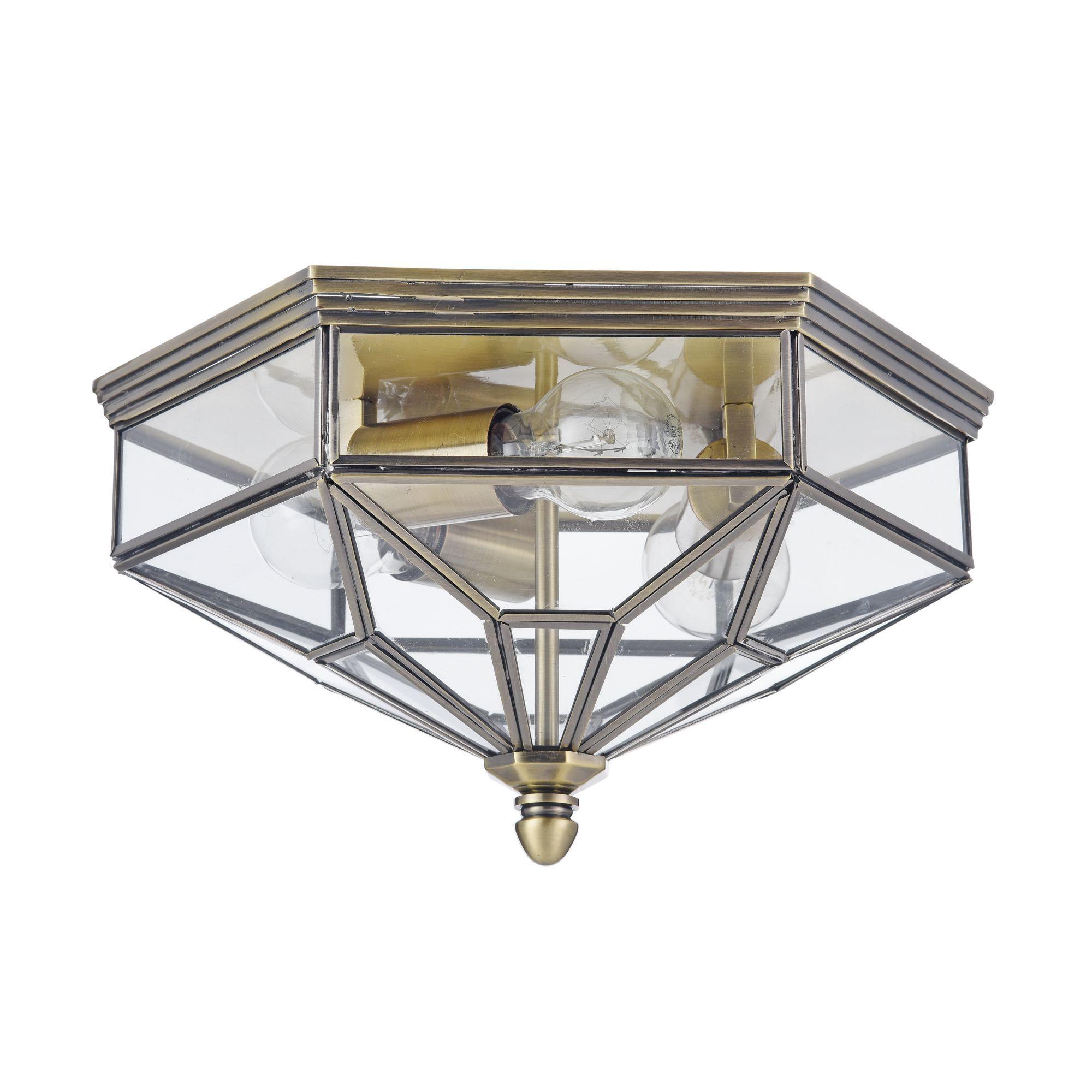 Потолочный светильник Maytoni Classic House Zeil H356-CL-03-BZ, 3xE27x60W, бронза, прозрачный, металл, стекло - фото 3