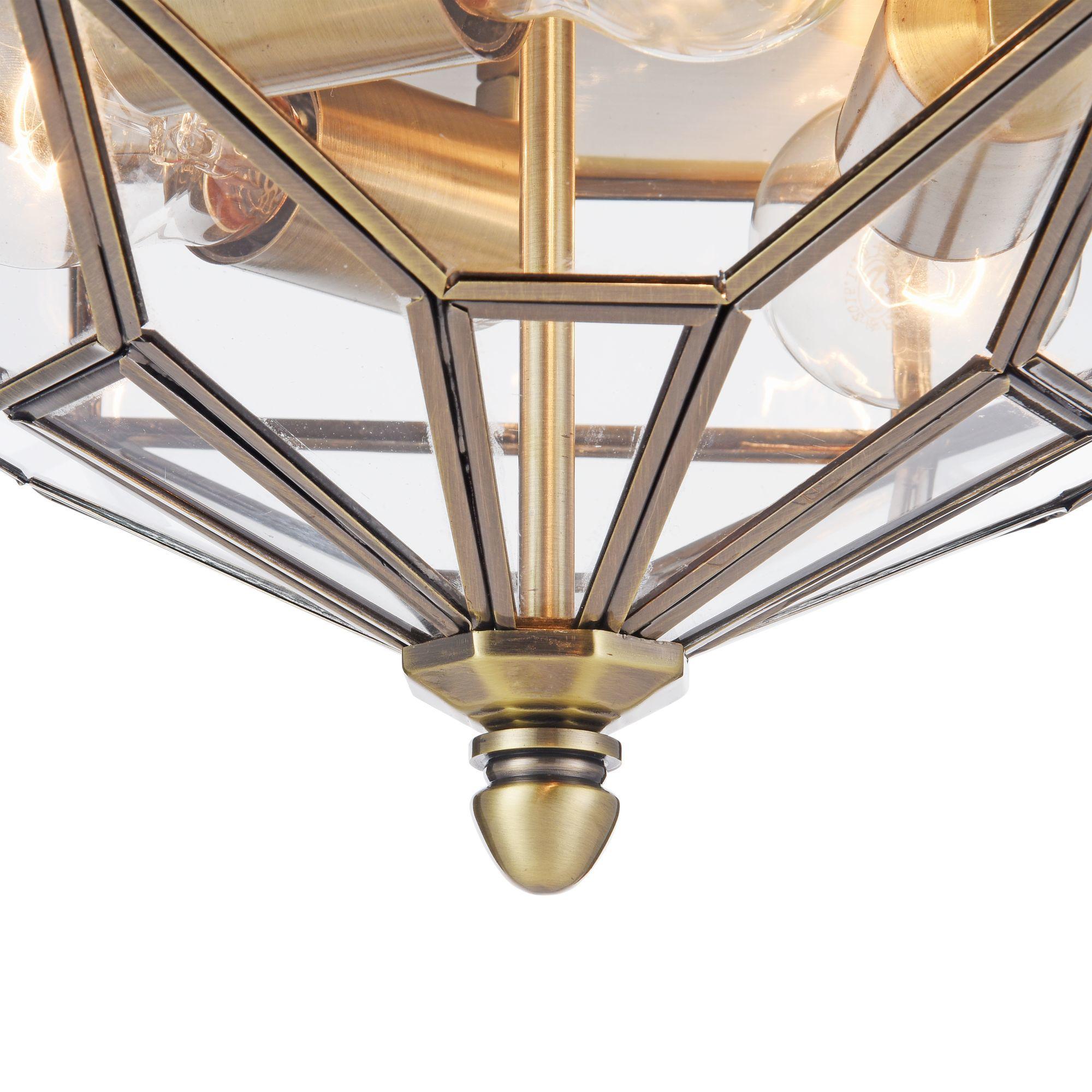 Потолочный светильник Maytoni Classic House Zeil H356-CL-03-BZ, 3xE27x60W, бронза, прозрачный, металл, стекло - фото 4