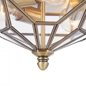 Потолочный светильник Maytoni Classic House Zeil H356-CL-03-BZ, 3xE27x60W, бронза, прозрачный, металл, стекло - миниатюра 7