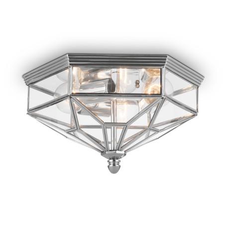 Потолочный светильник Maytoni Zeil H356-CL-03-CH, 3xE27x60W, хром, прозрачный, металл, стекло