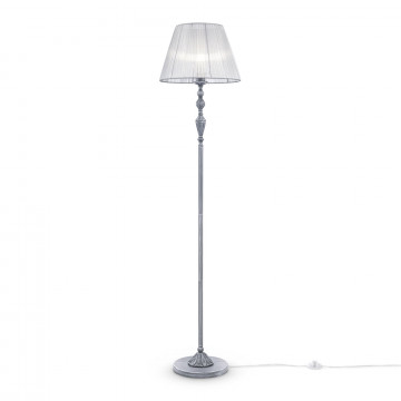 Торшер Maytoni Monsoon ARM154-FL-01-S, 1xE27x40W, серый, металл, текстиль