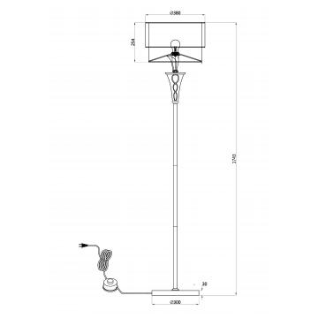 Схема с размерами Maytoni H311-FL-01-G