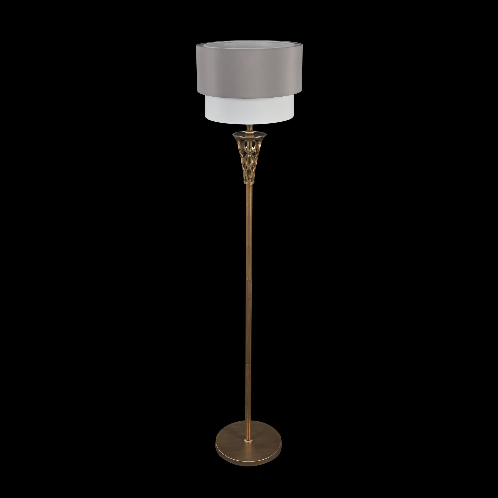 Торшер Maytoni Lillian H311-FL-01-G, 1xE27x100W, серебро, серый, металл, текстиль - фото 2