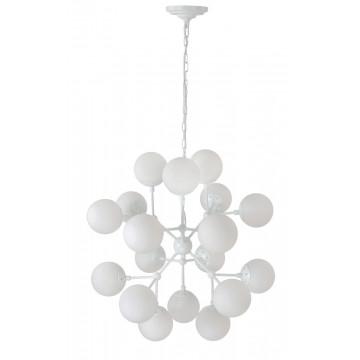 Подвесная люстра Crystal Lux MEDEA WHITE SP18 2421/318, 18xE27x60W, белый, металл, стекло