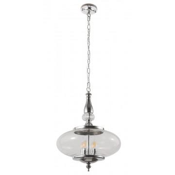 Подвесная люстра Crystal Lux MIEL SP4 CHROME 2450/204, 4xE14x60W, хром, прозрачный, металл, стекло