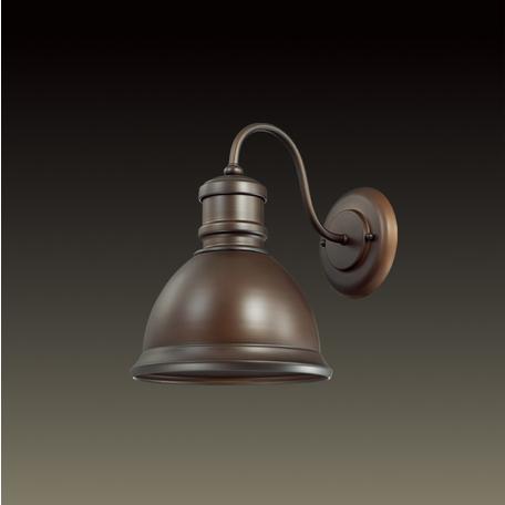 Бра Odeon Light Talva 2900/1W, 1xE27x60W, коричневый, металл