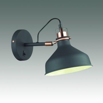 Настенный светильник с регулировкой направления света Odeon Light Lurdi 3329/1W, 1xE27x40W, медь, черный, металл