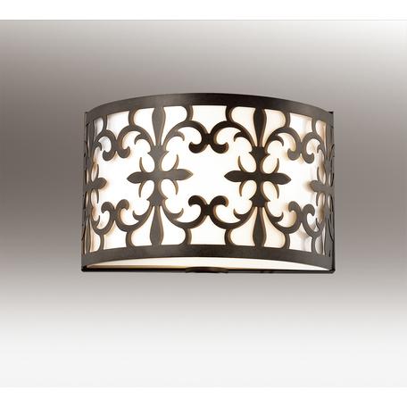 Настенный светильник Odeon Light Parola 2896/2W, 2xE14x40W, коричневый, белый, металл, пластик