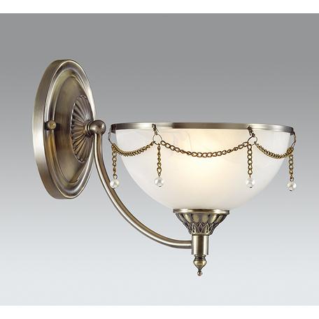 Бра Odeon Light Pascalla 3278/1W, 1xE27x60W, бронза, белый, металл, стекло, искусственный жемчуг - миниатюра 1