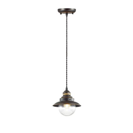 Подвесной светильник Odeon Light Country Sandrina 3249/1, 1xE27x60W, коричневый, прозрачный, металл, металл со стеклом