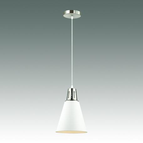 Подвесной светильник Odeon Light Tira 3320/1, 1xE27x60W, хром, белый, металл