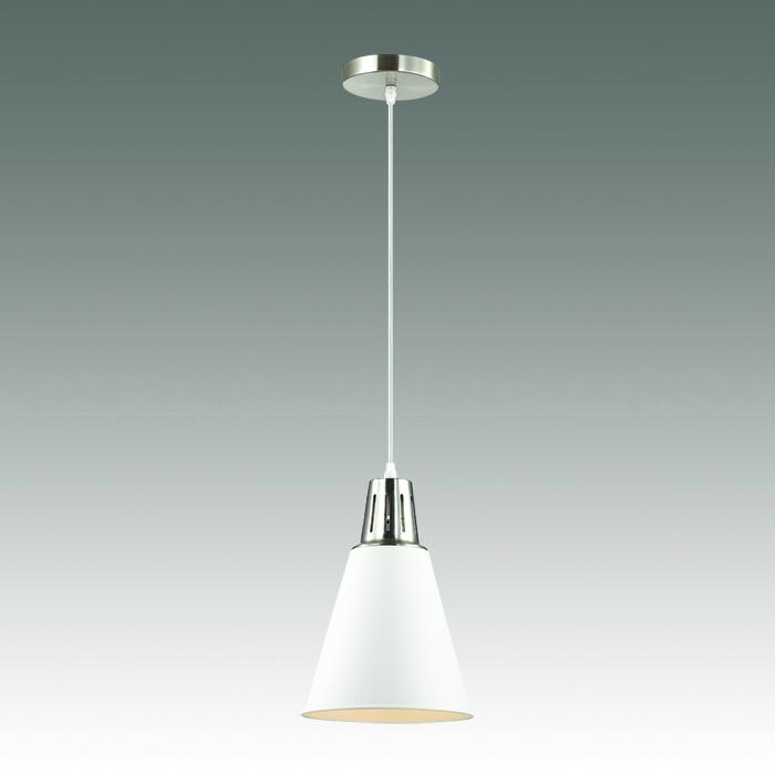 Подвесной светильник Odeon Light Tira 3320/1, 1xE27x60W, хром, белый, металл - фото 1