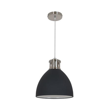 Подвесной светильник Odeon Light Viola 3321/1, 1xE27x60W, никель, черный, металл