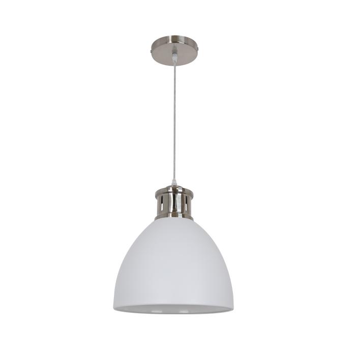 Подвесной светильник Odeon Light Viola 3323/1, 1xE27x60W, никель, белый, металл - фото 1