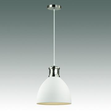 Подвесной светильник Odeon Light Pendant Viola 3323/1, 1xE27x60W, никель, белый, металл - миниатюра 2
