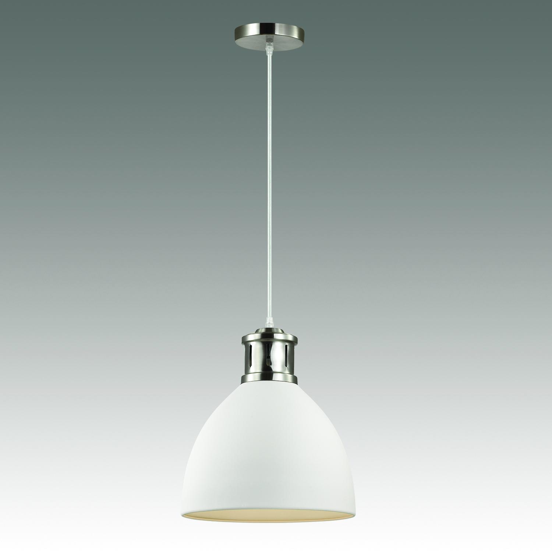 Подвесной светильник Odeon Light Pendant Viola 3323/1, 1xE27x60W, никель, белый, металл - фото 2
