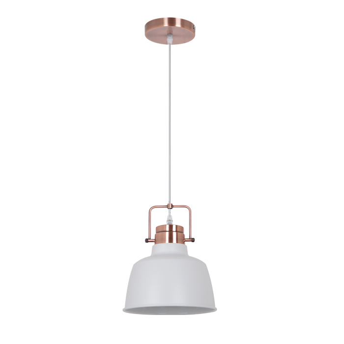 Подвесной светильник Odeon Light Sert 3324/1, 1xE27x60W, медь, белый, металл - фото 1
