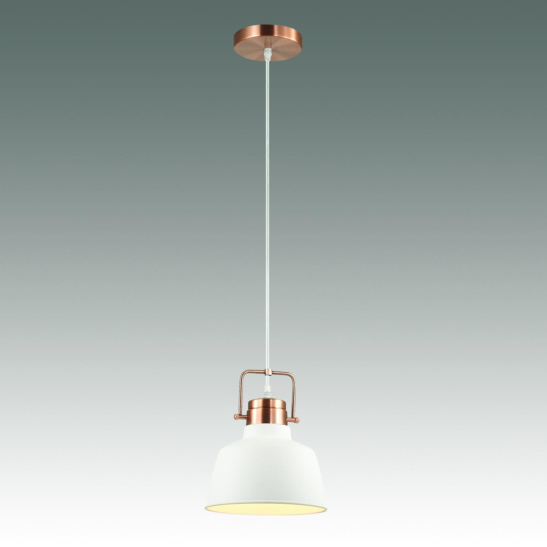 Подвесной светильник Odeon Light Sert 3324/1, 1xE27x60W, медь, белый, металл - фото 2