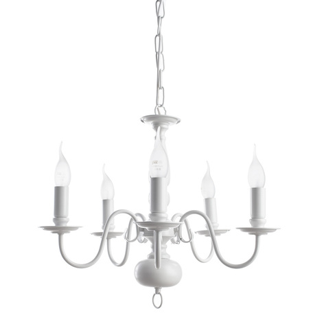 Arte Lamp Antwerpen A1029LM-5WC, 5xE14x40W, белый, металл