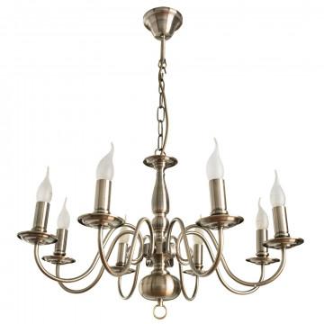 Arte Lamp Antwerpen A1029LM-8AB, 8xE14x40W, бронза, металл