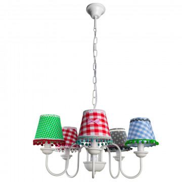 Arte Lamp Kids A5165LM-5WH, 5xE14x40W, разноцветный