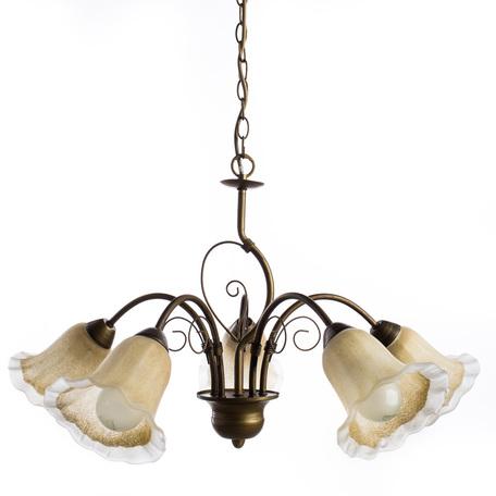 Arte Lamp Mormorio A9361LM-5BR, 5xE27x40W, коричневый, белый, металл, стекло - миниатюра 1