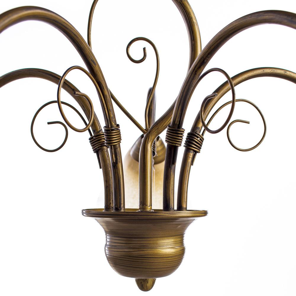 Arte Lamp Mormorio A9361LM-5BR, 5xE27x40W, коричневый, белый, металл, стекло - фото 3