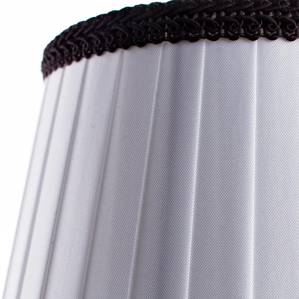 Бра Arte Lamp Irene A5133AP-1BR, 1xE14x40W, коричневый, белый, металл, текстиль - фото 3