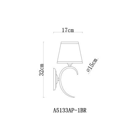 Схема с размерами Arte Lamp A5133AP-1BR