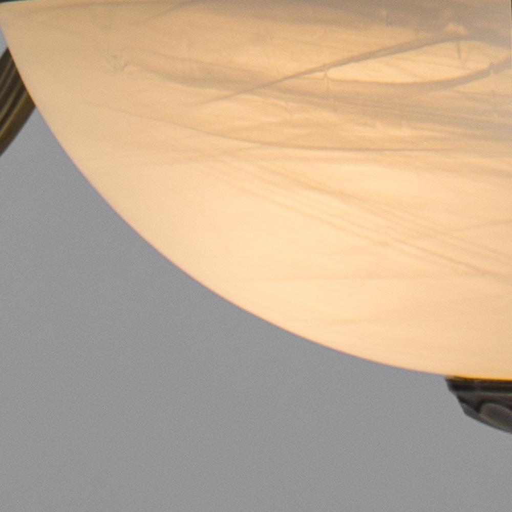 Подвесная люстра Arte Lamp Windsor A3777LM-6-2AB, 6xE14x40W + 2xE27x40W, бронза, белый, металл, стекло - фото 4