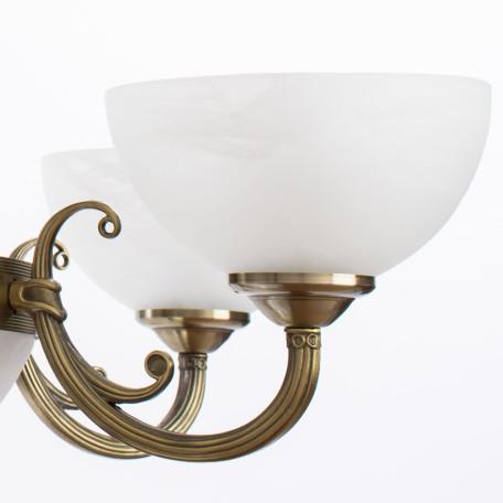 Подвесная люстра Arte Lamp Windsor A3777LM-6-2AB, 6xE14x40W + 2xE27x40W, бронза, белый, металл, стекло - миниатюра 5