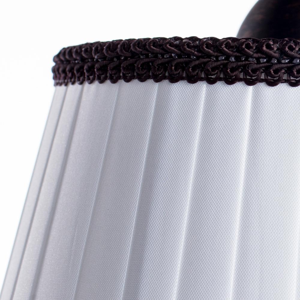 Потолочная люстра Arte Lamp Irene A5133PL-3BR, 3xE14x40W, коричневый, белый, металл, текстиль - фото 3