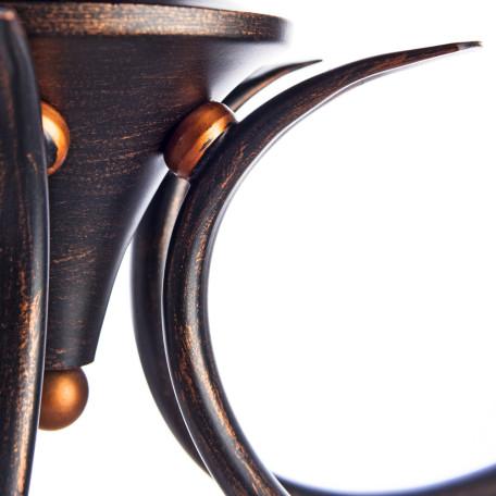 Потолочная люстра Arte Lamp Irene A5133PL-5BR, 5xE14x40W, коричневый, белый, металл, текстиль - миниатюра 3