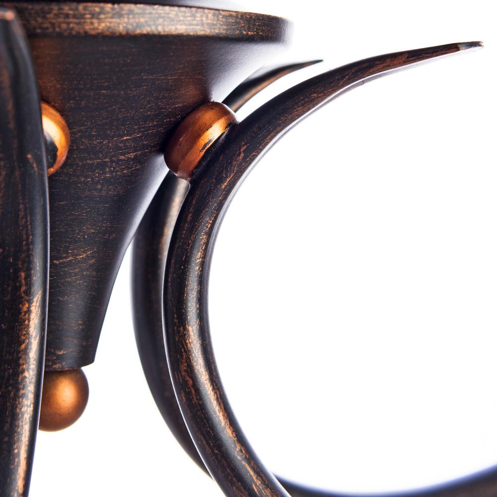 Потолочная люстра Arte Lamp Irene A5133PL-5BR, 5xE14x40W, коричневый, белый, металл, текстиль - фото 3