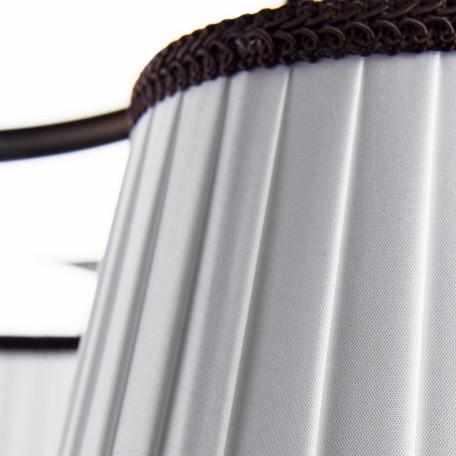 Потолочная люстра Arte Lamp Irene A5133PL-5BR, 5xE14x40W, коричневый, белый, металл, текстиль - миниатюра 4