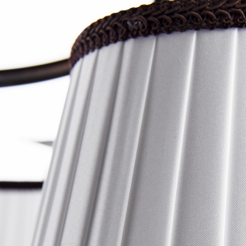 Потолочная люстра Arte Lamp Irene A5133PL-5BR, 5xE14x40W, коричневый, белый, металл, текстиль - фото 4