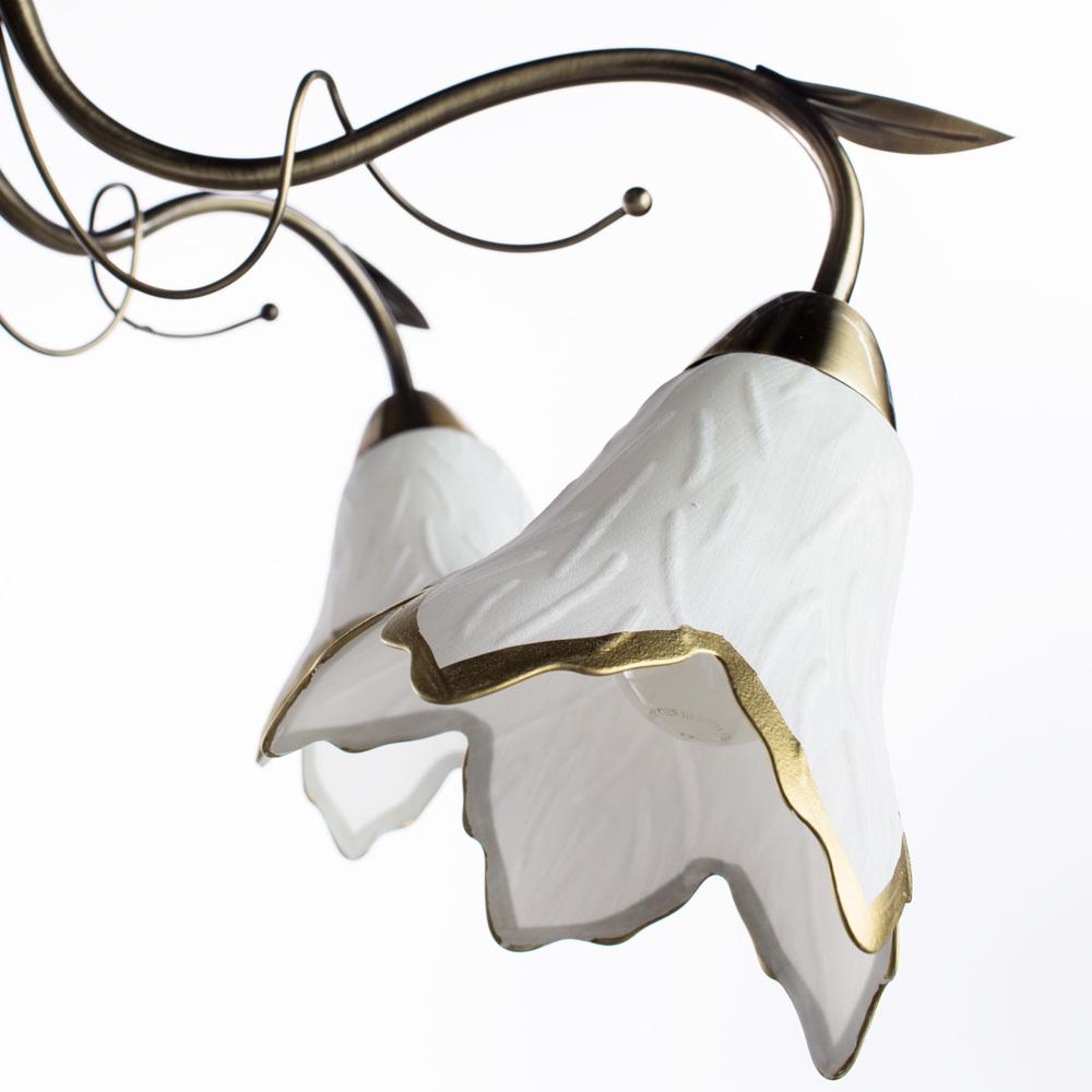 Потолочная люстра Arte Lamp Barbara A6066PL-5AB, 5xE27x60W, бронза, белый, металл, стекло - фото 3
