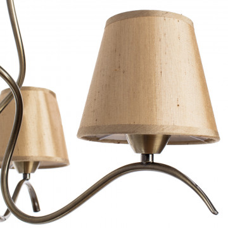 Потолочная люстра Arte Lamp Glorioso A6569PL-3AB, 3xE14x40W, бронза, бежевый, металл, текстиль - миниатюра 3