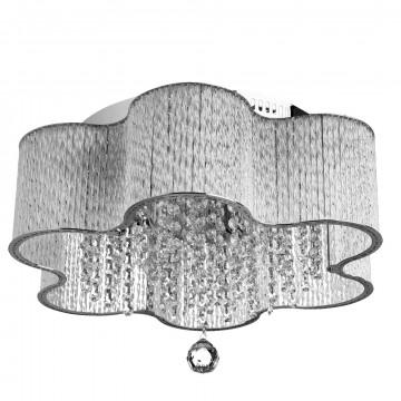 Потолочная люстра Arte Lamp Diletto A8565PL-4CL, 4xE14x40W, хром, прозрачный, металл, стекло, хрусталь