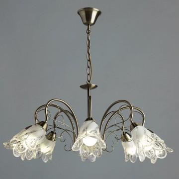 Подвесная люстра Arte Lamp Fiorita A6273LM-8AB, 8xE14x60W, бронза, матовый, металл, стекло