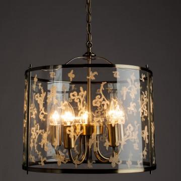 Подвесная люстра Arte Lamp Bruno A8286SP-5AB, 5xE14x60W, бронза, прозрачный, металл, стекло